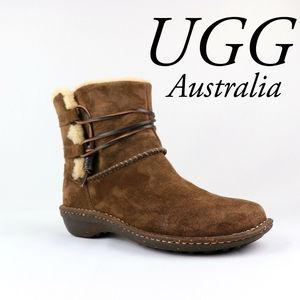 UGG Australia | Caspia Suede Shearling Ankle Boots